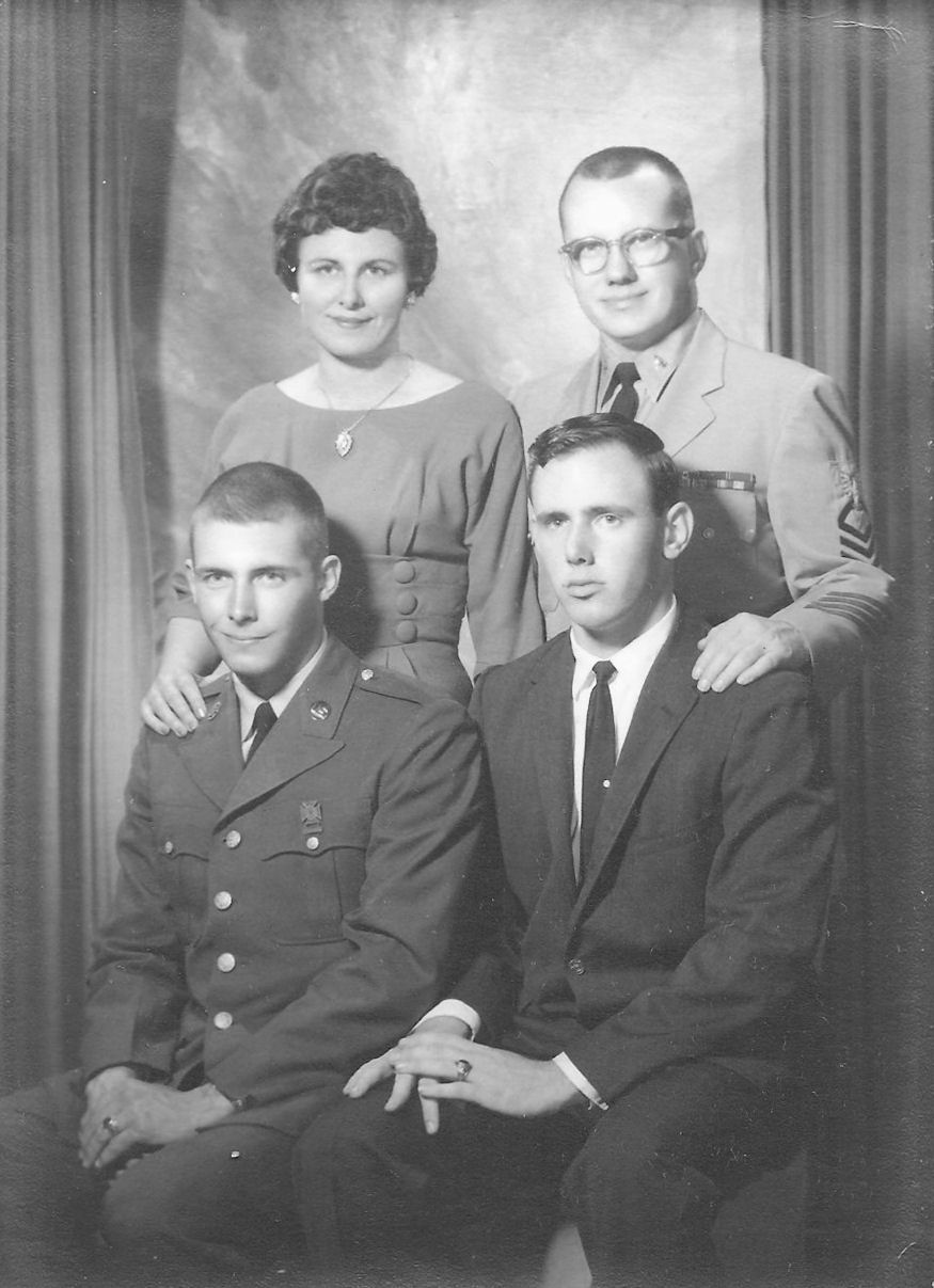 Withrow, Larry & Harris, Lucille with sons Wayne & Glen